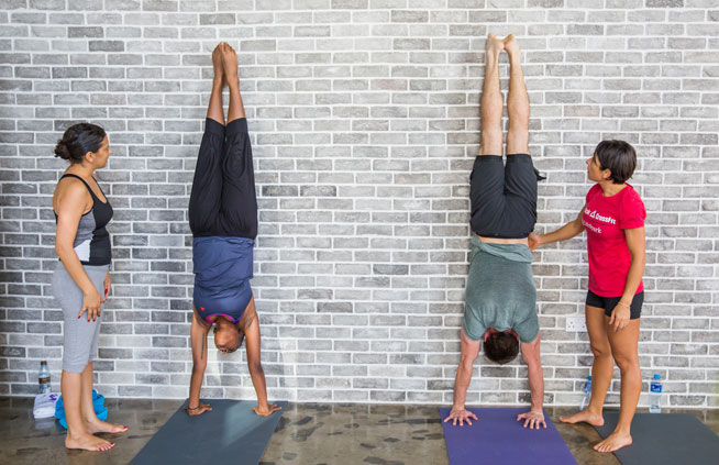 Urban Yoga handstand workshop