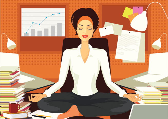 Yoga poses to do at your desk