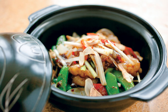 Best dishes in Dubai - Claypot prawns at Ba