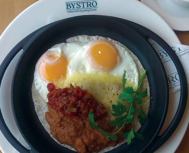 Best dishes in Dubai - Huevos Rancheros at Bystro