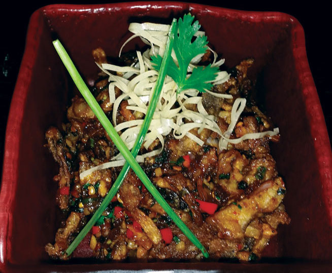 Best dishes in Dubai - Spicy mushrooms at Chop Suey