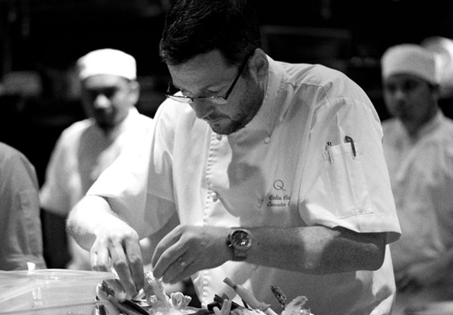 Colin Clague, head chef at Qbara