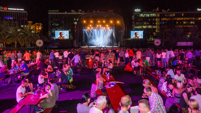 Party In The Park music festival in Dubai - best pictures: Richard Ashcroft on the main stage