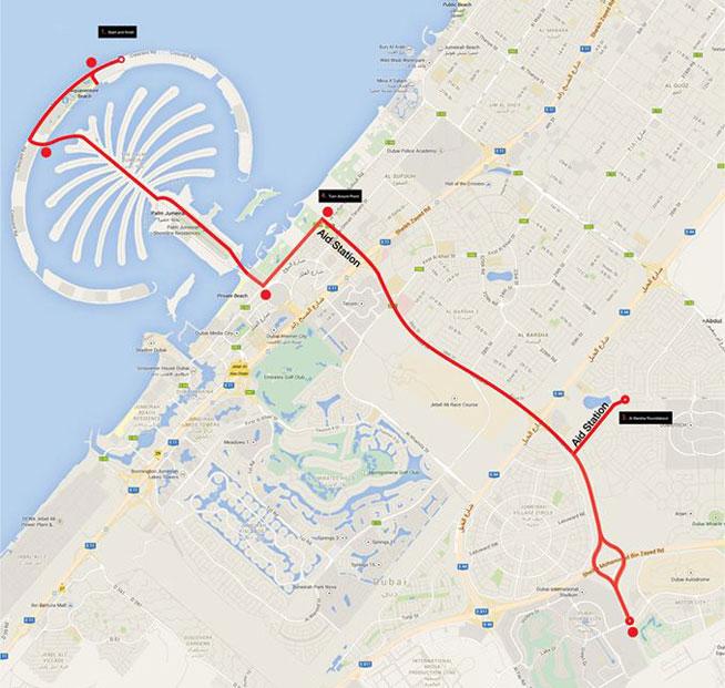 Dubai International Triathlon - traffic delays in Dubai
