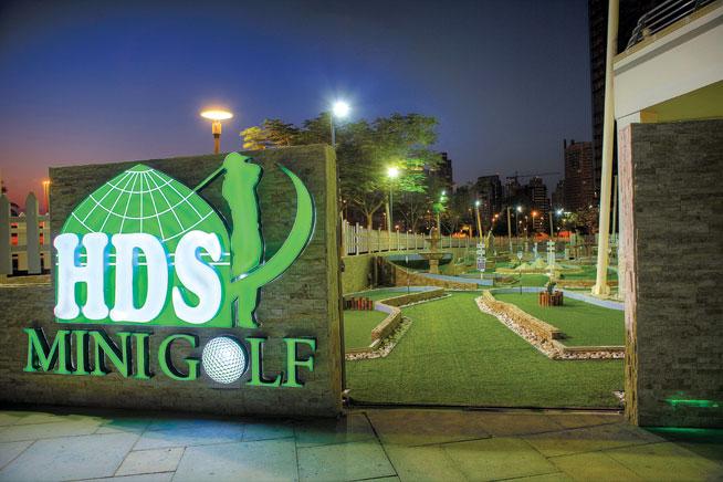Mini golf at HDS, Cluster M, JLT