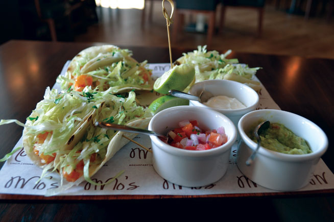 Best dishes in Dubai - Shrimp tacos at Mo's Diner