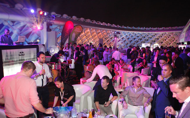 Podium Lounge VIP after-party, Abu Dhabi GP