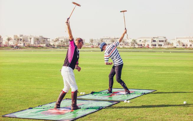 Polo lesson at Dubai Polo & Equestrian Club in Studio City