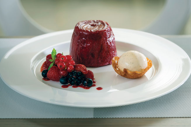 Best desserts in Dubai - Summer pudding at Rhodes W1