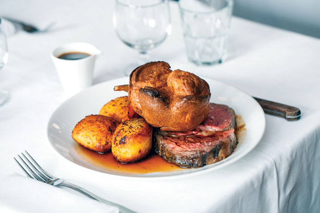Best dishes in Dubai - Roast beef and Yorkshire pudding at Rivington Grill