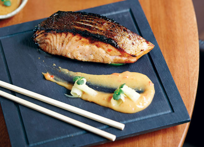 Best dishes in Dubai - Miso salmon at Toko