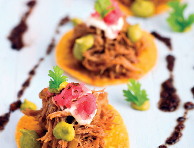 Best dishes in Dubai - Pulled chicken tostada at Tortuga