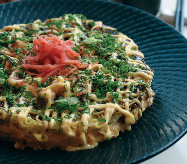 Best dishes in Dubai - Egg and cabbage pancake at Umai