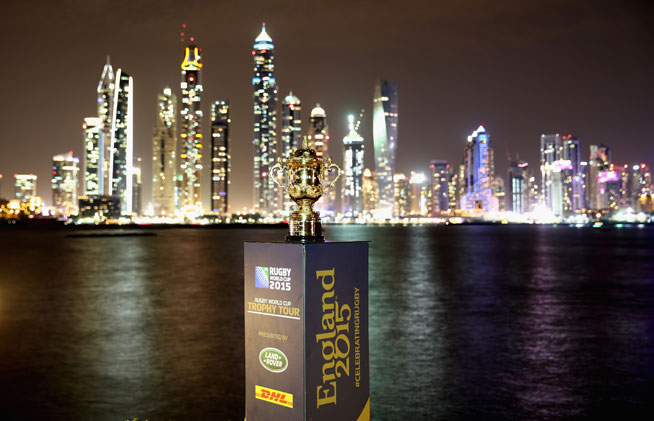 Dubai Rugby Sevens - have a photo with the Webb Ellis World Cup trophy