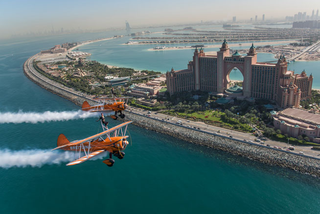 Breitling Wing Walkers in Dubai