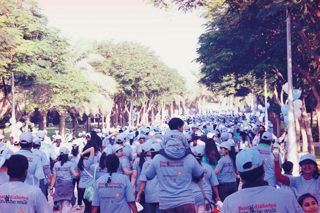 Beat Diabetes walk in Zabeel Park