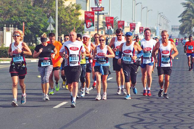 Dubai Creek Striders half marathon