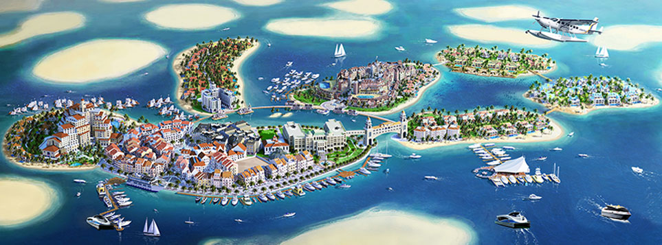Dubai World Islands - Mainland Europe (credit: thoe.com)