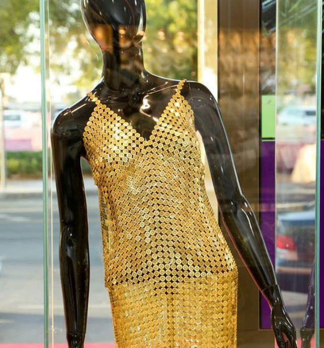 Golden outfit in Malabar Gold and Diamonds