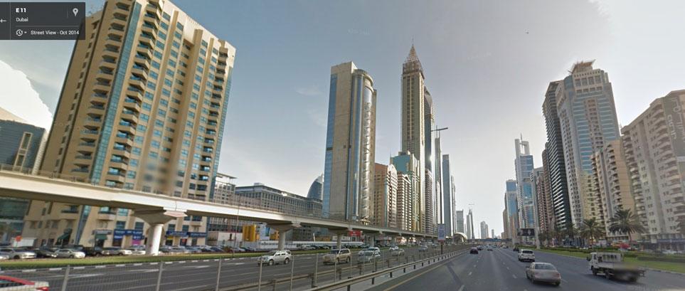 Google Street View in Dubai - Sheikh Zayed Road