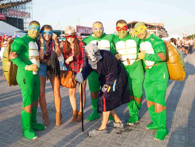Dubai Rugby Sevens 2014 - best fancy dress