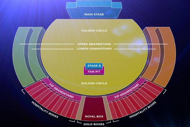 Michael Buble - seating plan