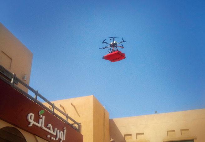Oregano pizza delivery by drone