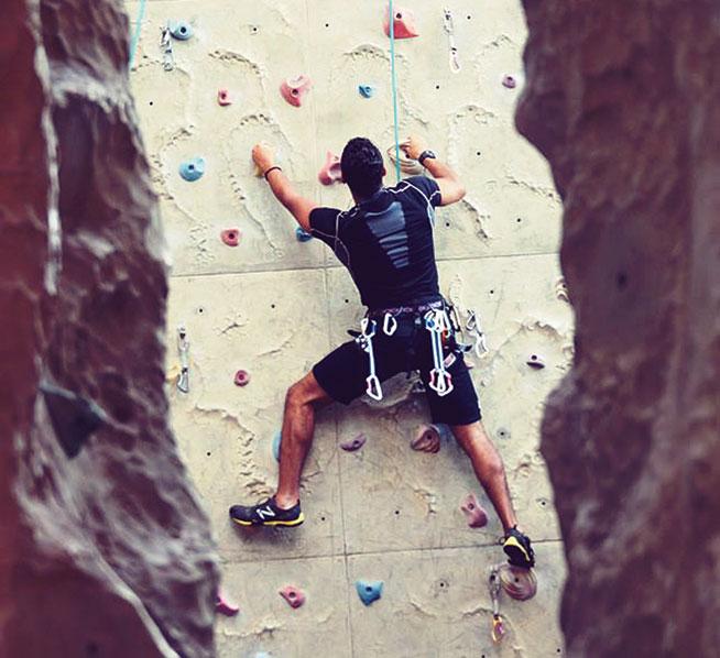 Rock climbing in Dubai - Pharoah's