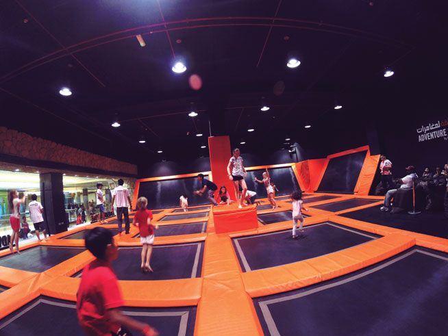 Adventure HQ trampolines in Abu Dhabi
