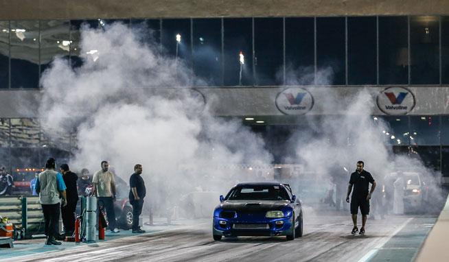 Drag racing at Yas Marina Circuit