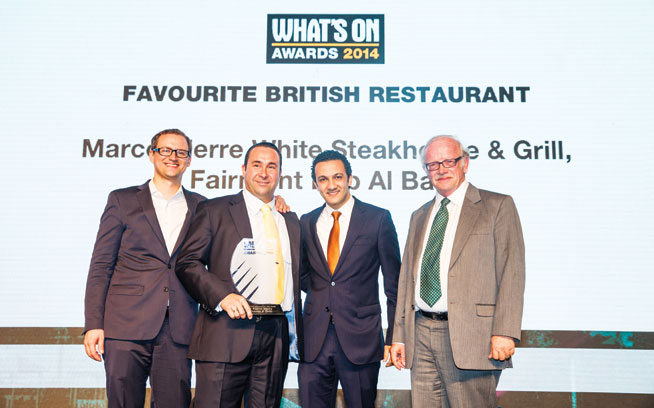 Favourite British restaurant in Abu Dhabi - Marco Pierre White Steakhouse & Grill, Fairmont Bab Al Bahr