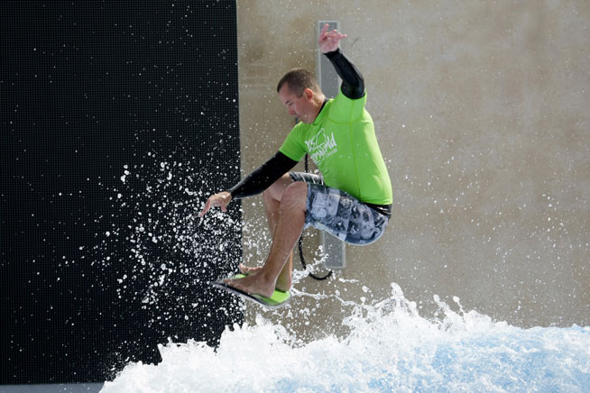 Flowboarding at Yas Waterworld