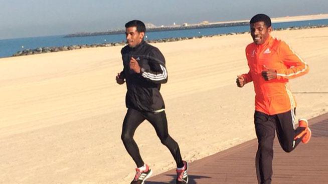 Halie Gebrselassi marathon tips
