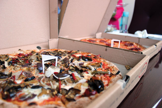 Pizza takeaway in Abu Dhabi