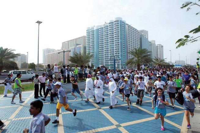 Terry Fox Run in Abu Dhabi