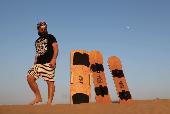 Sandboarding in Dubai with Above Sandboards