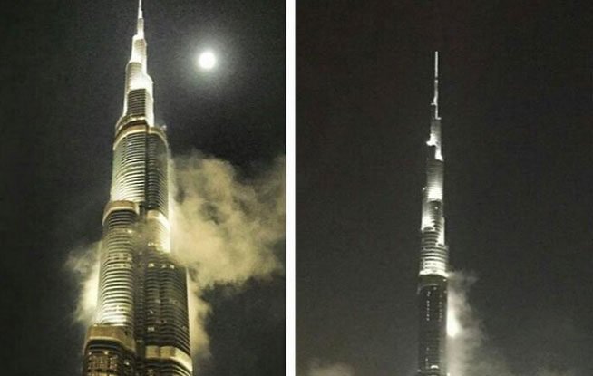 Burj Khalifa fire dismissed as fog