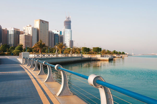 Cycling in Abu Dhabi - Corniche