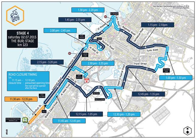 Dubai Tour road closures: Day Four