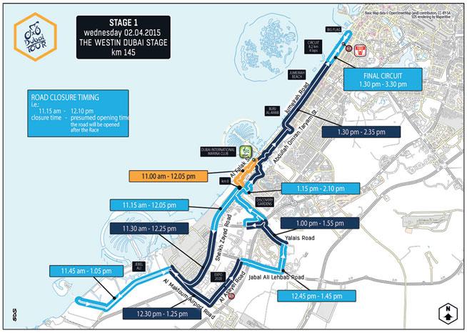 Dubai Tour road closures: Day One