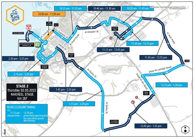 Dubai Tour road closures: Day Two