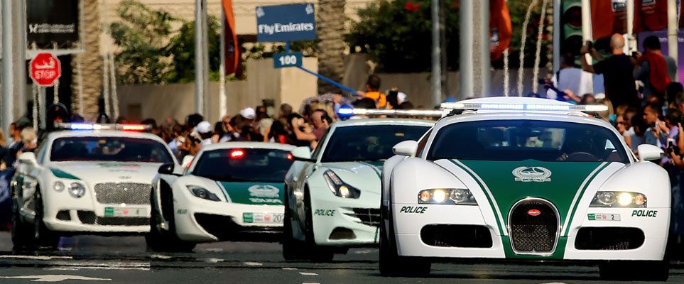 Dubai Police cars - viral video