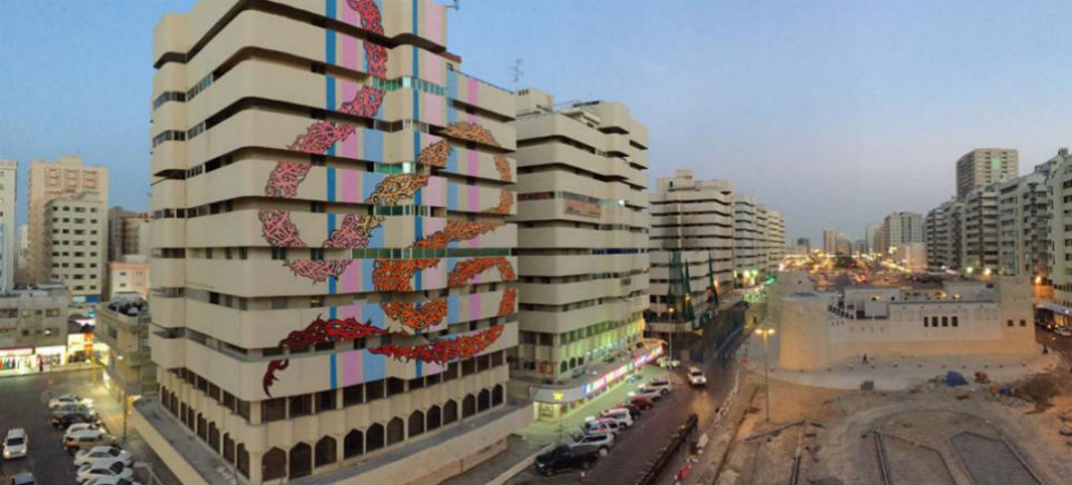 El Seed's new mural in Sharjah