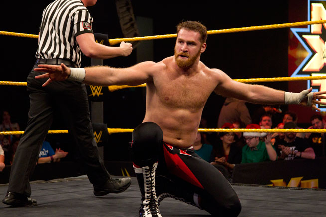 Sami Zayn at WWE Live in Abu Dhabi