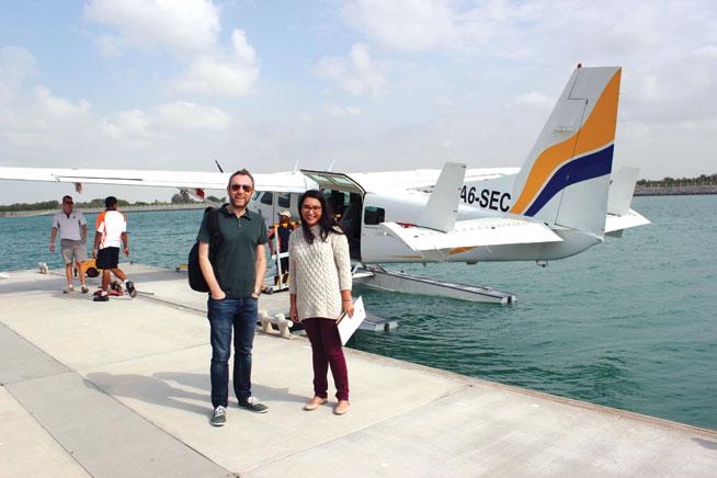 Seawings touring Abu Dhabi by plane