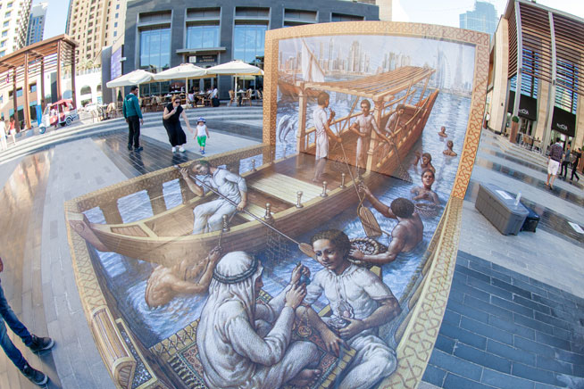 Pictures of Dubai Canvas 3D art project