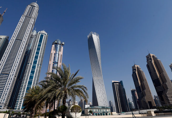 Cayan Tower Dubai Marina is the tallest twisted tower in the world