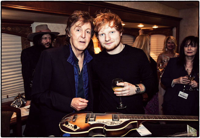 Ed Sheeran in Dubai - preview. With Sir Paul McCartney