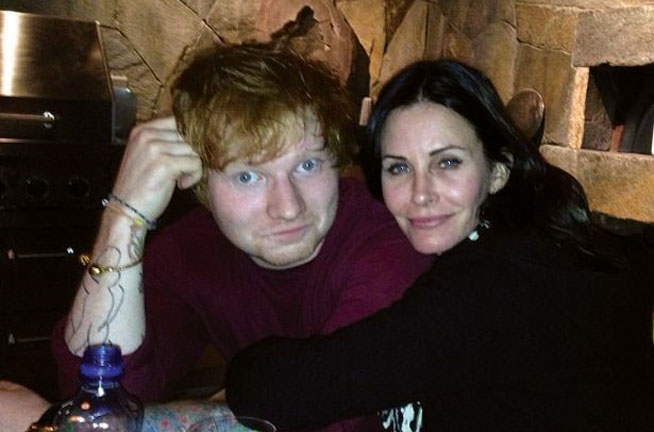Ed Sheeran in Dubai - preview. With Courtney Cox