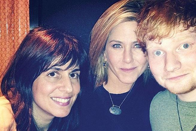 Ed Sheeran in Dubai - preview. With Jennifer Aniston